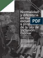 Matus c (2015) - Normalidad y Diferencia en Nuestras Escuelas, A Proposito de La Ley de Inclusion Escolar - Reflexiones Pedagogicas