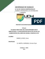 Tesis Terminado Final Evasión tributaria del nuevo régimen único simplificado y la recaudación fiscal en los comerciantes del mercado de Amarilis, 2018.