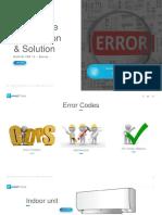 Error Codes VRV Daikin