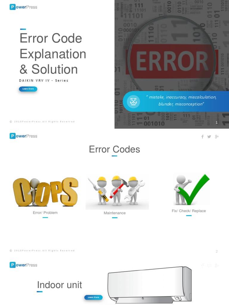 Daikin Vrv Iii Error Code E3 Gastronomia Y Viajes