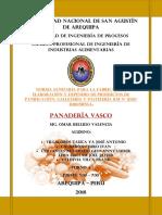 Informe de Panaderia -Norma Sanitaria Para La Fabricación, Elaboración y Expendio de Productos de Panificación, Galletería y Pastelería
