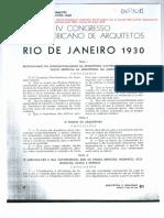 IV Congresso Pan-Americano de Arquitetos-Conclusões (ARQUITETURA E URBANISMO, 1930)