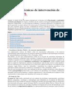 Terapias y Técnicas de Intervención de Psicología