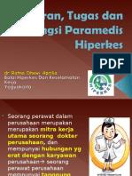 Peran, Tugas Dan Fungsi Paramedis Hiperkes Dr.ratna