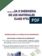 Ciencia de Los Materiales-clase 1