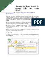 Amarre de Ingresos en Excel Contra Lo CFDI