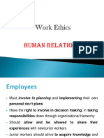 Work Ethics - Human Relations