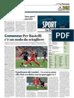 La Provincia Di Cremona 07-12-2018 - Cremonese