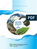 Pakistan National Water Policy 2018