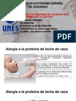 Alergia a proteínas de leche de vaca e intolerancia ala lactosa