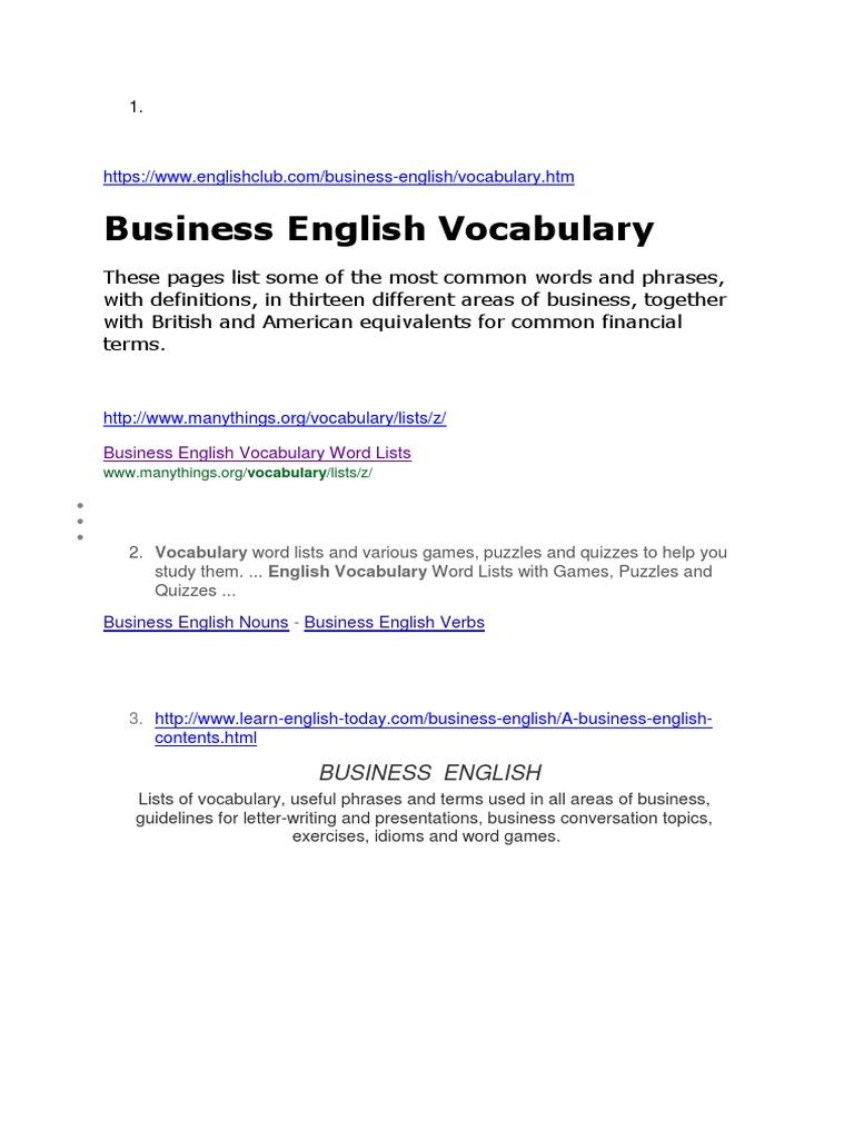 11 MotivationMM | English Language | Vocabulary