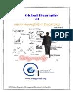 MTC Global Biography of Indian Management Educators, Volume-I, Feb 2016