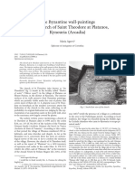 M. Agrevi, The Byzantine wall-paintings in the church of Saint Theodore at Platanos, Kynouria (Arcadia), Zograf 39 (2015), 91-105