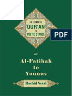 Glorious Quran In Poetic Stance Part I (by Dr Rashid Seyal)