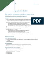 TT Residential Mortgage Checklist
