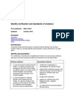 Identity Verification and Standards of Evidence v4.0