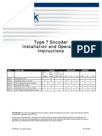 Type 7 Encoder Installation and Operation Instructions