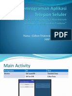 Tugas Pemrograman Aplikasi Telepon Seluler