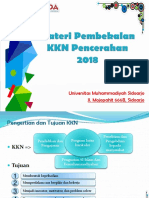 Materi Pengantar Pembekalan KKN Pencerahan 2018.Output