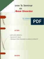 Acid-Base Disorder
