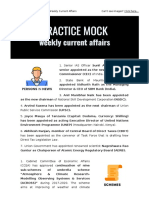 PracticeMock offers Weekly current affairs for Banking & other government exams.