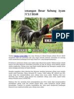 Meraih Kemenangan Besar Sabung Ayam Online