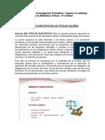 Actividad Nro. 13 Proceso Ejecutivo de Los Títulos Valores