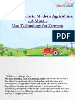 Role of Tractors in Modern Agriculture