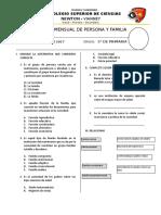 Examen Mensual de Persona y Familia