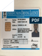 Driving Licence of Sumeet