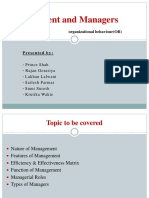 Management and Managers