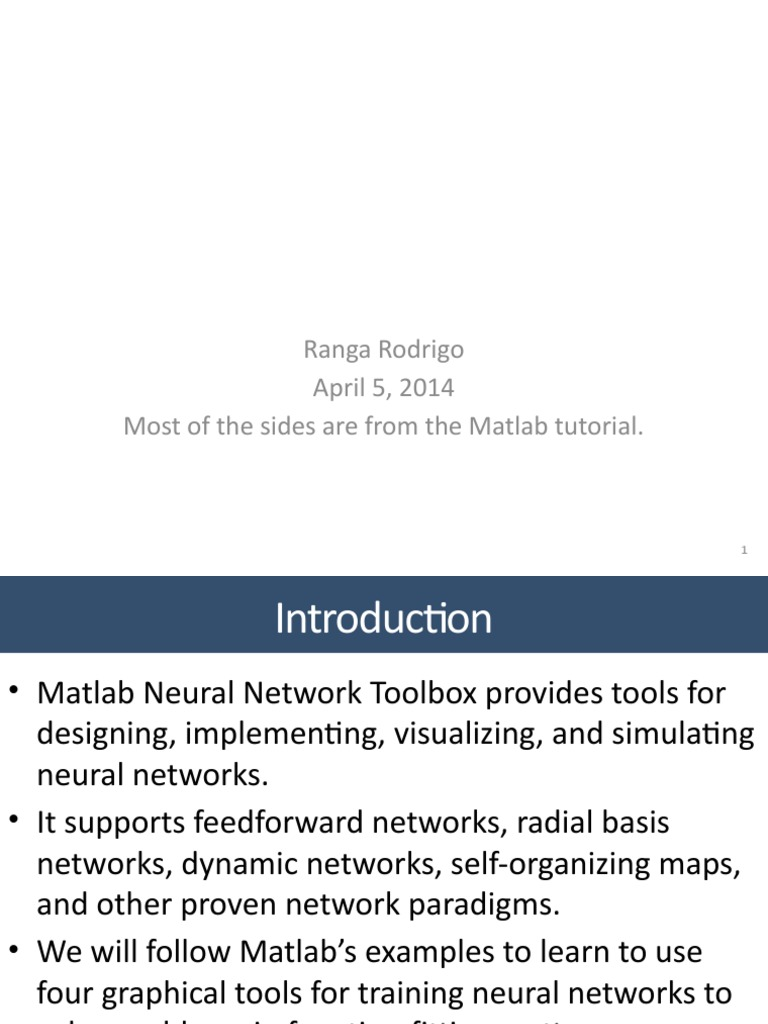 L09 Using Matlab Neural Networks Toolbox pptx | Sensitivity And