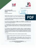 Carta Entregada a Ministro Del Trabajo
