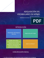 Adquisición del vocabulario. CRZ. UDEC2018