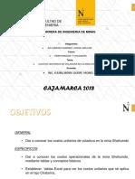 Costos Unitarios de Voladura de La Mina Shauindo