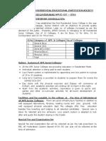 APRJC CET 2016 Information(Prospectus)