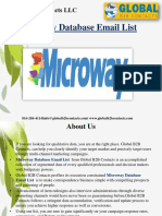 Microway Database Email List