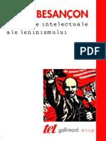 Alain Besancon Originile Intelectuale Ale Leninismului