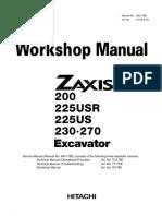 Hitachi Zaxis 225USR Excavator Service Repair Manual.pdf