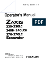 Hitachi Zaxis 230, 230LC, 240H, 240LCH Excavator operator's manual SN 010001 and up.pdf
