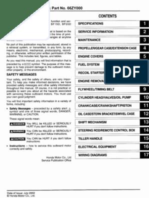 Honda Marine Outboard BF15D Service Repair Manual.pdf ... on