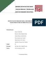 PROYECTO DE FACTIBILIDAD DE CREMA DE CHIRIMOYA