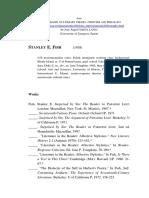 Stanley Fish - Bibliografia