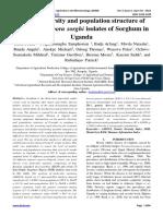Genetic diversity and population structure of Peronosclerospora sorghi isolates of Sorghum in Uganda