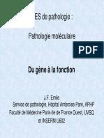 Pathologie Moléculaire2007 JF Emile