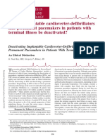 Should implantable cardioverter-defibrillators and permanent pacemakers in patients with terminal illness be deactivated?