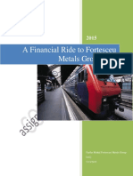 A Financial Ride to Fortesceu