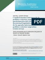 Condicionamientos Internos de La Politica Exterior Argentina