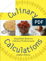 Wiley Culinary Calculations Simplified Math for Culinary Professionals