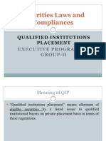 Securities Laws and Compliances Qip